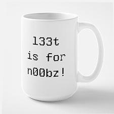l33t is for noobz! Mug