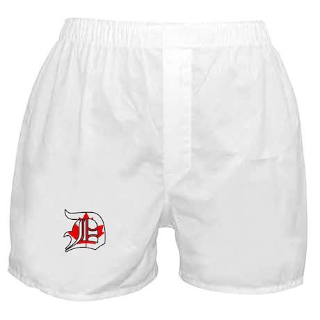 Canadian Flag D (Detroit) Boxer Shorts