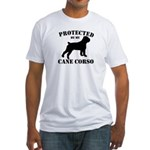 Protected by my Cane Corso Fitted T-Shirt