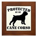 Protected by my Cane Corso Framed Tile