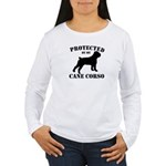 Protected by my Cane Corso Women's Long Sleeve T-S