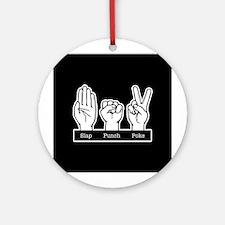 Slap Punch Poke Ornament (Round)