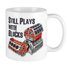 Still Plays With Blocks Small Mug