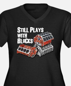 Still Plays With Blocks Women's Plus Size V-Neck D