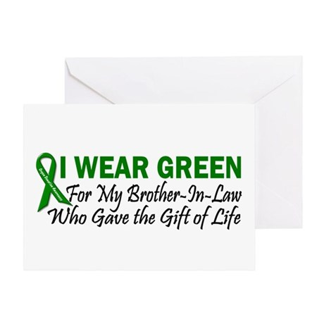 I Wear Green Brother-In-Law Organ Donor Greeting C