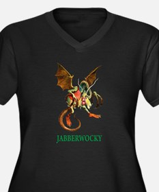 JABBERWOCKY Women's Plus Size V-Neck Dark T-Shirt