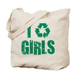 I Recycle Girls Tote Bag