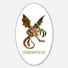 JABBERWOCKY Oval Stickers
