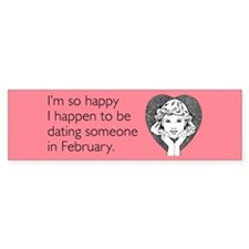 Happy Dating Bumper Sticker