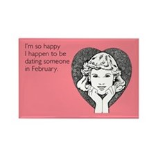 Happy Dating Rectangle Magnet