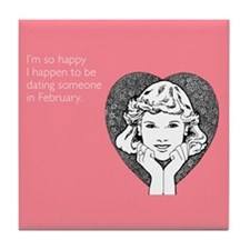 Happy Dating Tile Coaster