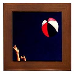 Play (Beach) Ball! Framed Tile