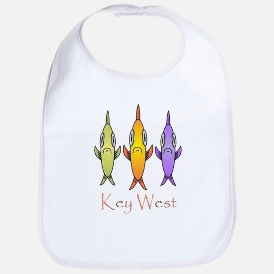 Key West 3 Fishes Bib