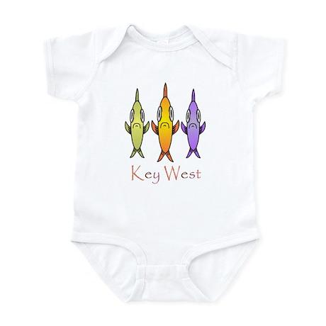 Key West 3 Fishes Infant Bodysuit