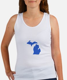 Michigan Peninsulas blue Women's Tank Top