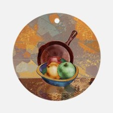A Bowl of Apples Round Ornament