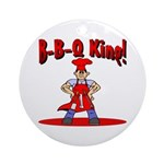 B-B-Q King Ornament (Round)