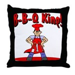 B-B-Q King Throw Pillow