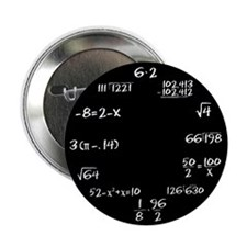 "Black Math Clock 2.25"" Button (100 pack)"