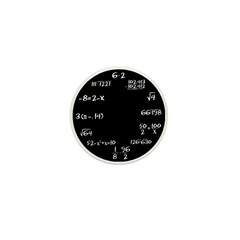 Black Math Clock Mini Button (100 pack)
