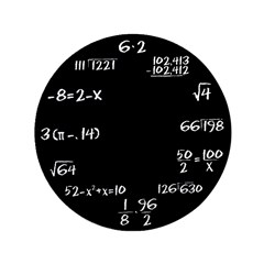 "Black Math Clock 3.5"" Button (100 pack)"