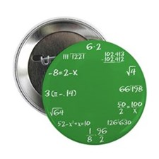 "Green Math Clock 2.25"" Button (10 pack)"