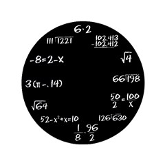 "Black Math Clock 3.5"" Button"