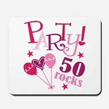 Party 50 Rocks Birthday Mousepad