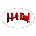 B-B-Q King Oval Sticker