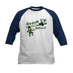 Drink Up Bitches Kids Baseball Jersey