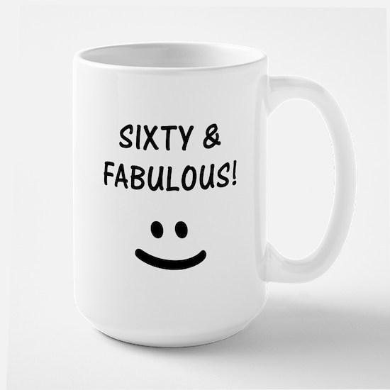 Funny 60th Birthday Large Mug