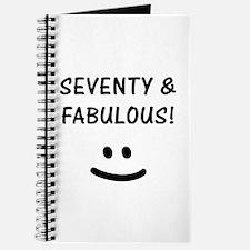 Funny 70th Birthday Journal