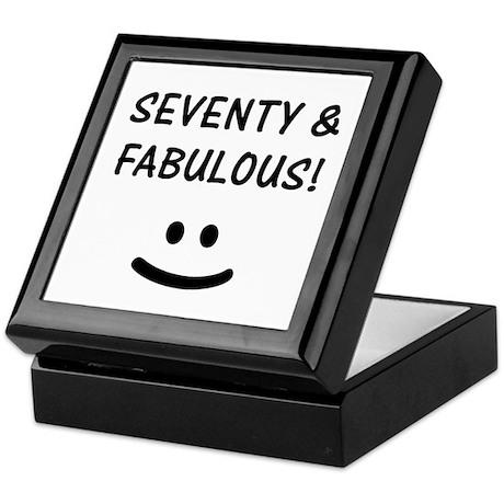 Funny 70th Birthday Keepsake Box