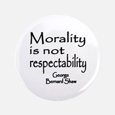 """Shaw on Morality 3.5"""" Button"""