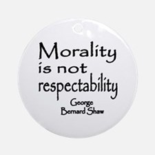 Shaw on Morality Ornament (Round)