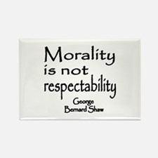 Shaw on Morality Rectangle Magnet