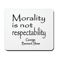 Shaw on Morality Mousepad