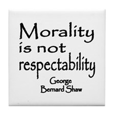 Shaw on Morality Tile Coaster