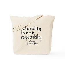 Shaw on Morality Tote Bag