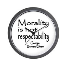Shaw on Morality Wall Clock