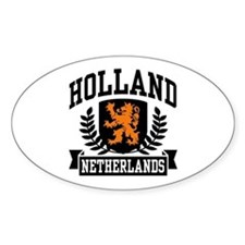 Holland Netherlands Oval Decal