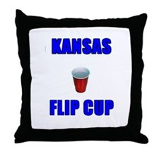 Funny Kansas jayhawks Throw Pillow