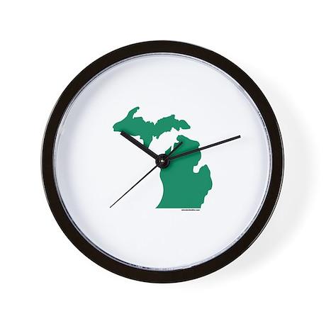 Michigan Green Peninsulas Wall Clock
