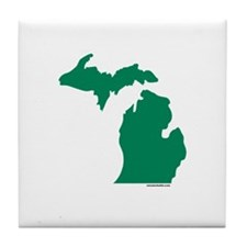 Michigan Green Peninsulas Tile Coaster