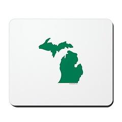 Michigan Green Peninsulas Mousepad