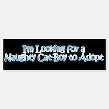 Naughty Catboy Adoption Black Bumper Bumper Bumper Sticker