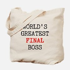 World's Greatest Final Boss Tote Bag