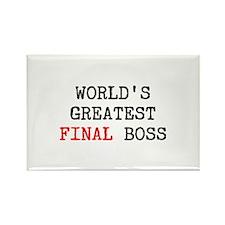 World's Greatest Final Boss Rectangle Magnet