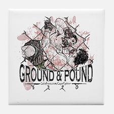MMA Ground and Pound Tile Coaster