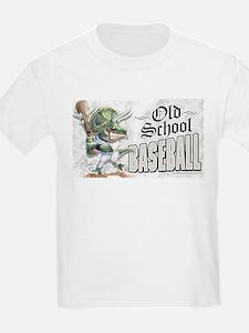 Old School Dino Baseball T-Shirt